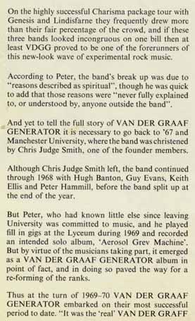 Charisma Biography 1975