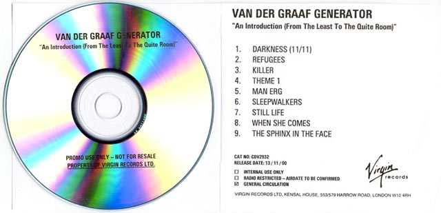 The box van der graaf generator an introduction promo ccuart Images