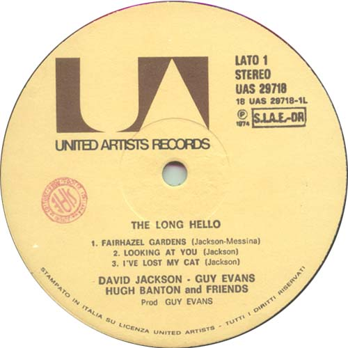 The Long Hello label