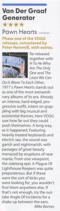Peter Hammill & Van der Graaf Generator Mojo_july05_pawnhearts