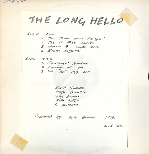 This is The Long Hello with a hand-written photocopied sheet taped to ...